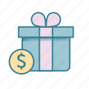 birthday money, cash, expensive gift, finances, gift of money, inheritance, taxable icon