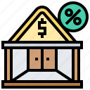 estate, house, payment, property, tax icon