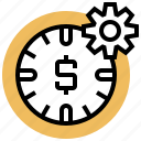 clock, period, time, setting, duration icon