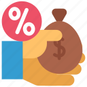ante, buy, discount, finance, money, persent, taxes icon