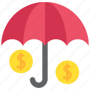 discount, finance, money, payment, rain, taxes, umbrella