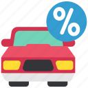 car, discount, money, persent, rent, sale, taxes icon