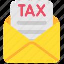 cash, duti, envelope, finance, money, payment, taxes icon