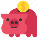 accumulation, coin, finance, money, moneybox, piggy, taxes icon