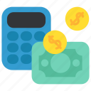 business, calculator, dollar, finance, money, payment, taxes icon