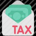 cash, dollar, duti, envelope, money, tax, taxes icon