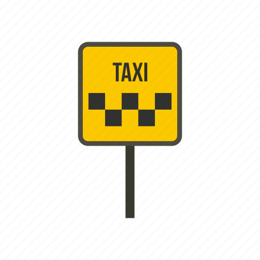 car, pole, signboard, taxi, transport, transportation, vehicle icon