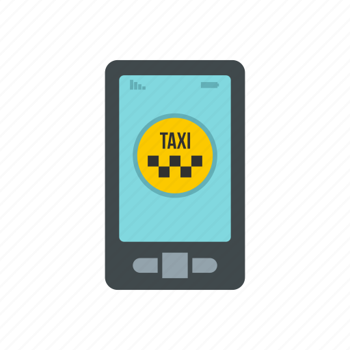 application, cab, mobile, phone, service, taxi, travel icon