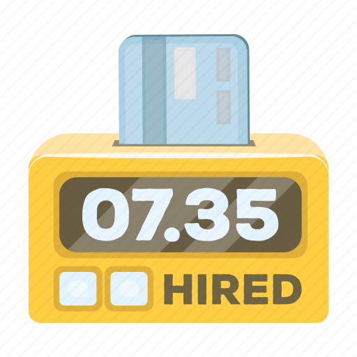 counter, figure, journey, money, payment, scoreboard, taxi icon