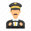 avatar, driver, man, people, person, taxi, uniform icon