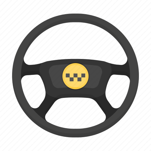 car, delivery, steering wheel, taxi, transport, vehicle icon