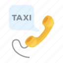 dispatcher, handset, order, service, taxi icon