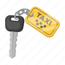car, equipment, ignition key, key chain, taxi, vehicle icon
