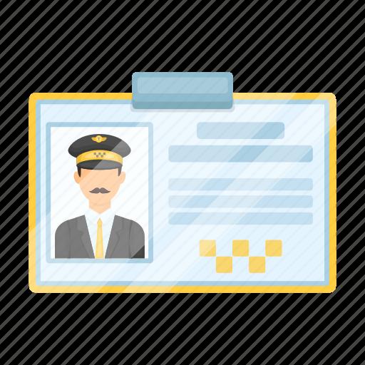 auto, badge, certificate, driver, taxi icon