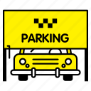 car, park, parking, stand, taxi, transport icon