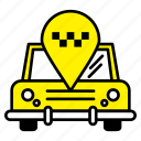 car, location, pin, taxi, transport
