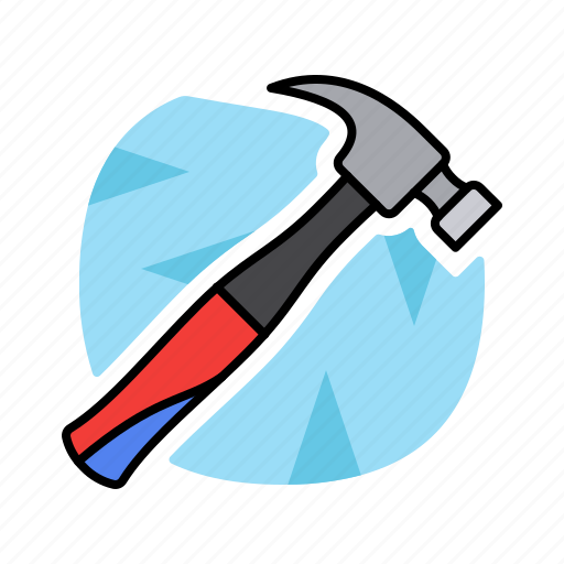 gear, hammer, justice, tools, work icon