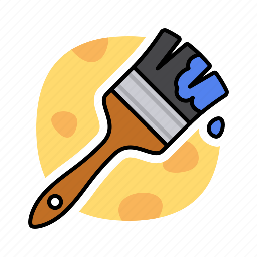 brush, drawing, paint, pencil, shape icon