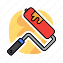 design, paint, painting, palette, roller icon