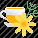 drink, flower, glass, tea