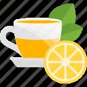 fruit, glass, lemon, tea