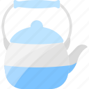 blue, drink, kettle, tea icon
