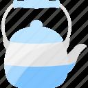 blue, drink, kettle, tea