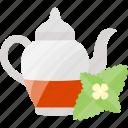 drink, flower, kettle, tea icon