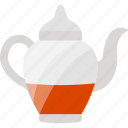 drink, kettle, red, tea icon