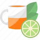 drink, fruit, lime, tea icon