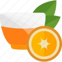 drink, fruit, orange, tea
