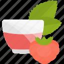 drink, fruit, raspberry, tea icon