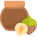 food, nuts, sweet, tea icon