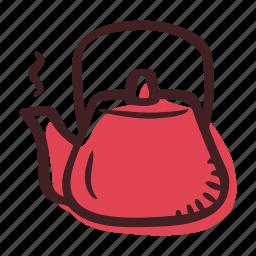 coffee, coffee pot, hot water, pot, tea, teapot icon