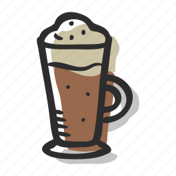 beverage, cappuccino, coffee, coffee cup, iced cappuccino icon