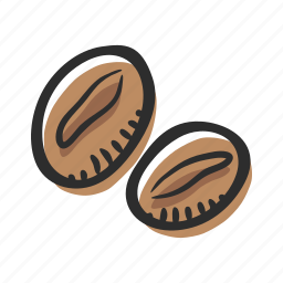 arabica, bean, coffee, coffee beans, coffee grains, ingredient icon