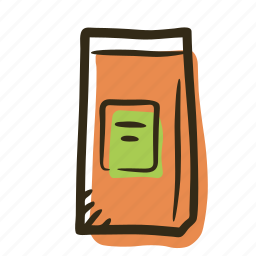bag, coffee, coffee bag, pack, shop, tea, tea bag icon