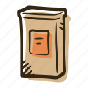 box, coffee, coffee box, pack, shop, tea, tea box icon