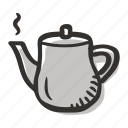 coffee, coffee pot, hot water, pot, tea, teapot icon