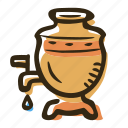 beverage, hot drink, russia, samovar, tea, teapot icon