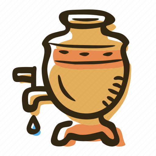 beverage, hot drink, russia, samovar, tea, teapot icon