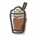 beverage, coffe, frappuccino, hot drink, latte, mocha icon