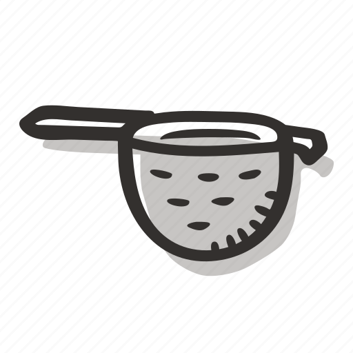 beverage, brew, hot drink, strainer, tea, tea leaves, tea strainer icon