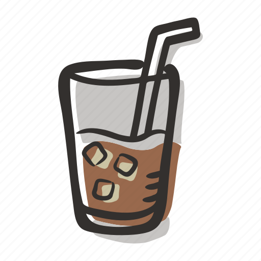 beverage, coffee, cold brew, cold drink, glass icon