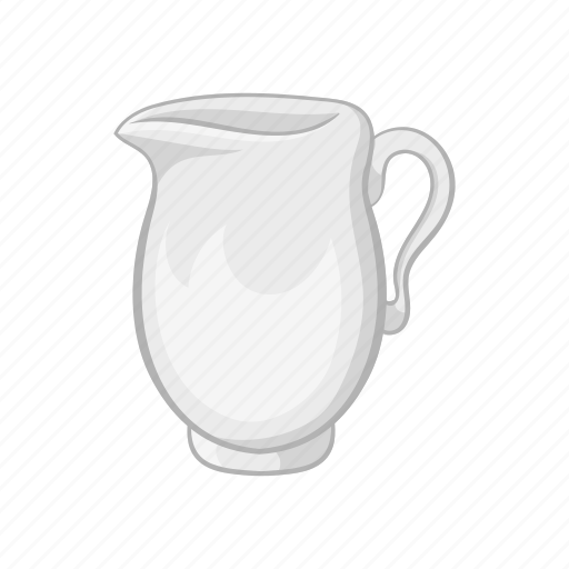 cartoon, dairy, drink, glass, jug, liquid, milk icon