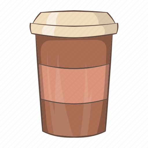 cafe, cartoon, coffee, cup, drink, latte, paper icon