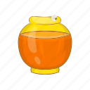 bank, cartoon, food, glass, honey, honeycomb, sweet icon