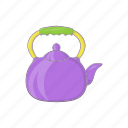cartoon, drink, handle, pot, tea, teapot, utensil icon
