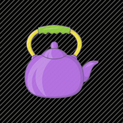 Cartoon Drink Handle Pot Tea Teapot Utensil Icon