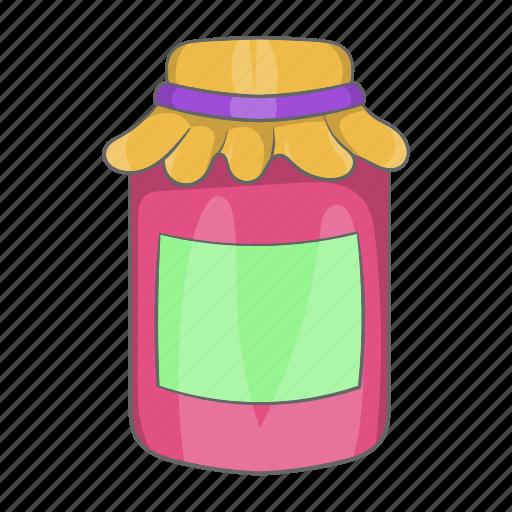 breakfast, cartoon, fruit, homemade, jam, jar, jelly icon